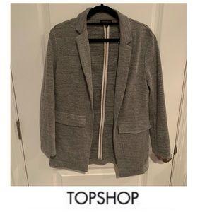 Topshop Oversized Gray Blazer